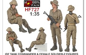 IDF Tank Commander & Female Soldier  - Figures