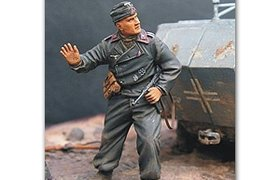 德国士兵在伏击。二战 The German soldier in an ambush. WW2