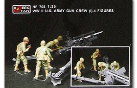 WWII US Marines Gun Crew (2) - 4 figs.