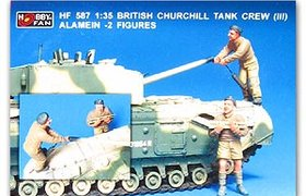 Bristish Churchill Tank Crew (III)  Alamein 2 figs.