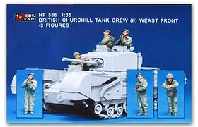 Bristish Churchill Tank Crew (II) West Front 3 figs..