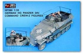 German HG Panzer Div. Command Crew - 2 Fig.