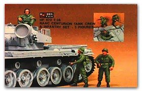 RAAC Centurion Tank Crew and Infantry set
