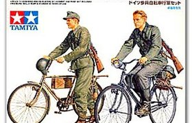 German Soldiers with Bicycles