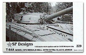 T-64A m72 rebuild hull with extra glacis armor update set