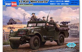 """U.S. M3A1  """"White Scout Car""""  Early Production"""